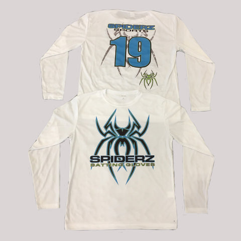 Spiderz Custom BP Long Sleeve Jersey- Black/Carolina Blue/Safety Green
