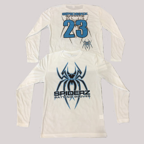 Spiderz Custom BP Long Sleeve Jersey- Black/Carolina Blue