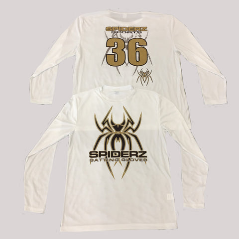 Spiderz Custom BP Long Sleeve Jersey- Black/Gold