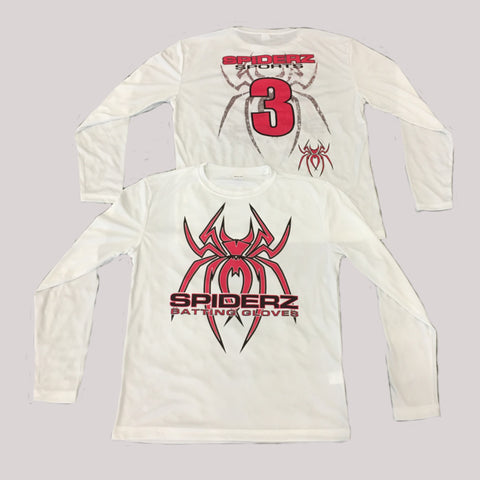 Spiderz Custom BP Long Sleeve Jersey- Pink/Black