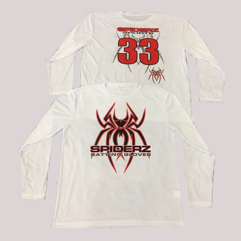 Spiderz Custom BP Long Sleeve Jersey- Black/Red