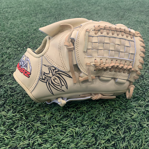 "ULTRA Fielding Glove - 11.75"", RHT, Basket Web, Bone/Black/Red - Free Custom Engraving"