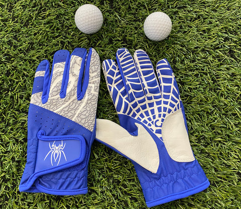 "Spiderz ""Buzzard""  Golf Glove - Royal Blue/White"