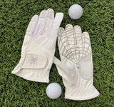 "Spiderz ""Buzzard""  Golf Glove - White/Silver"