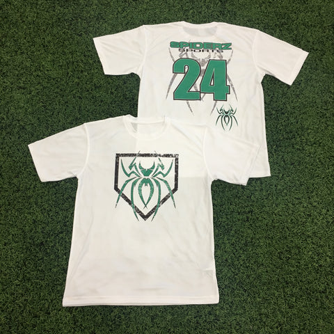Spiderz Custom BP Short Sleeve Jersey- Green/Black