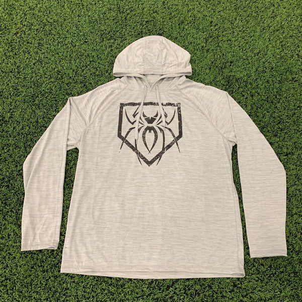 Spiderz Light Weight Performance Hoody - Silver Heather/Black