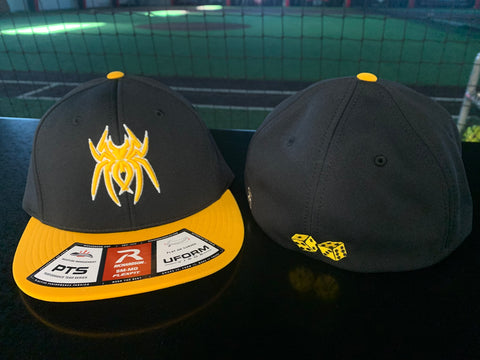 Spiderz Richardson PTS 20 Hat (Vegas) - Black/Athletic Gold