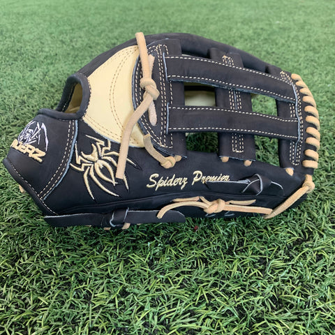 "PREMIER Fielding Glove - 13.25"", RHT, H-Web, Black/Bone/Bone"