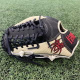 "PREMIER Fielding Glove - 12.75"", LHT, T-Trap, Bone Snake Skin Stamped/Black/Red - Free Custom Engraving"