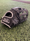 "ULTRA Fielding Glove - 14"", RHT, H-Web, Black/White - Free Custom Engraving"