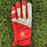"Spiderz ""Buzzard""  Golf Glove - Red/White"