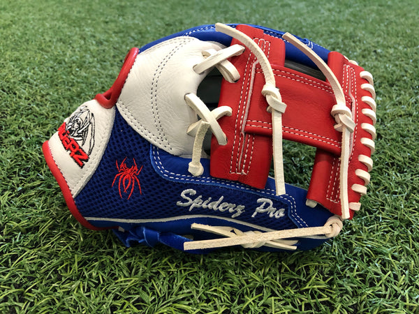 "PRO Fielding Glove - Royal Mesh/Red/White -11""- I-WEB"