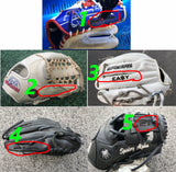 Custom Fielding Glove Engraving