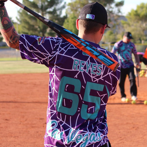 *Pre-Order* Spiderz Full Dye Jersey Buy In - Purple/Teal/White