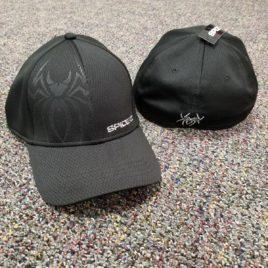 Spiderz Hat- Black/Metallic Silver