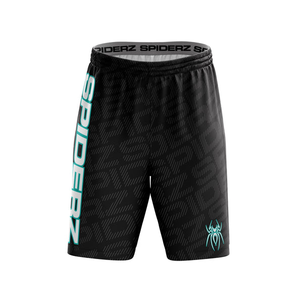 Spiderz Super Micro Mesh BP Shorts - Black/Turquoise