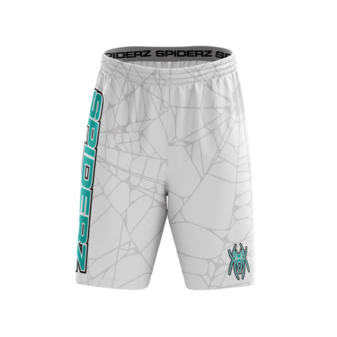 Spiderz Super Micro Mesh BP Shorts - White/Turquoise