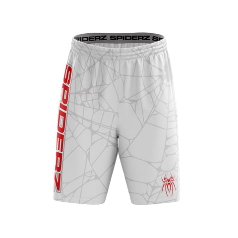 Spiderz Super Micro Mesh BP Shorts - White/Red/Silver
