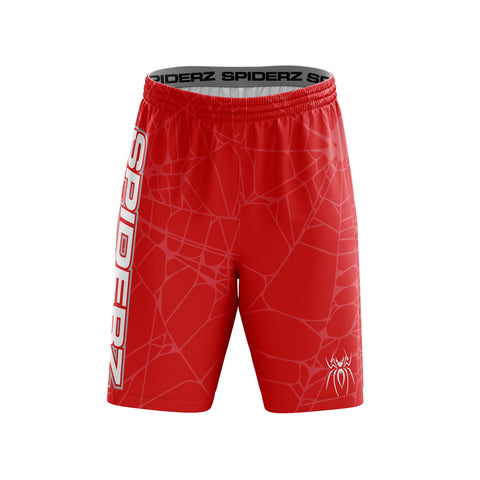 Spiderz Super Micro Mesh BP Shorts - Red/Silver/White