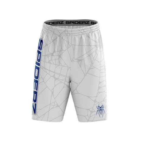 Spiderz Super Micro Mesh BP Shorts - White/Royal/Silver