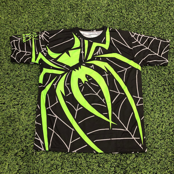 *Pre-Order* Spiderz Full Dye Jersey Buy In - Black/Neon Green/Silver