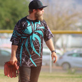 *Pre-Order* Spiderz Full Dye Jersey Buy In - Black/Teal/Silver