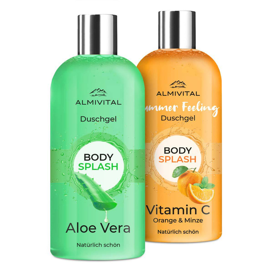 Spar-Set: Bodysplash Duschgels Orange & Minze + Aloe Vera