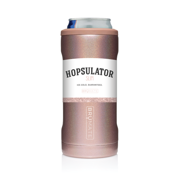 Slim Can Hopsulator - Glitter Rose Gold