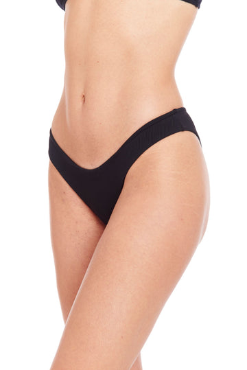 The Billie June Bottom - Black Ribbed