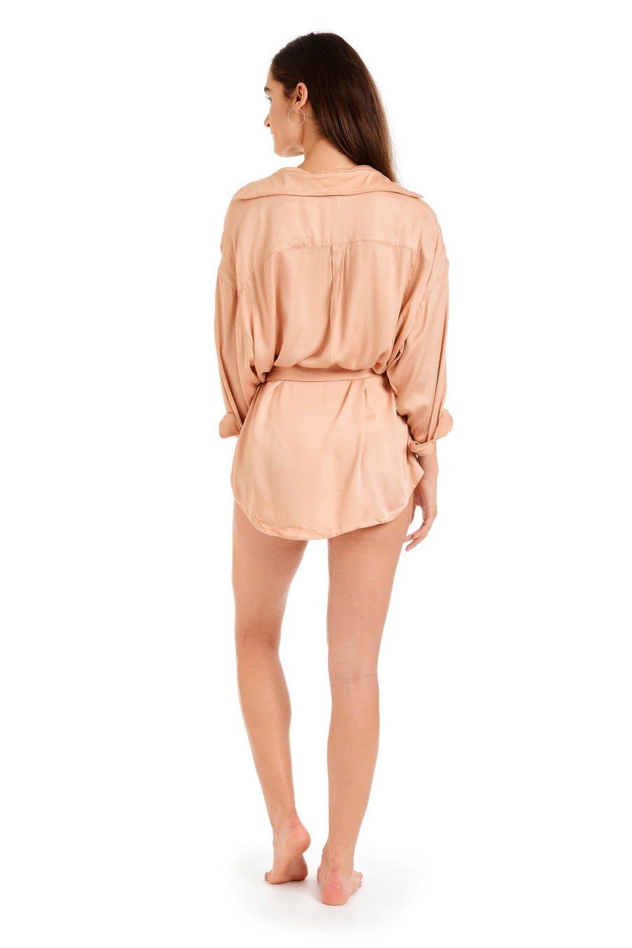 Back view of the linda dress swimwear cover up