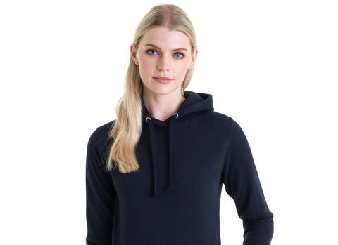 a lady wearing the best hoodie in the world
