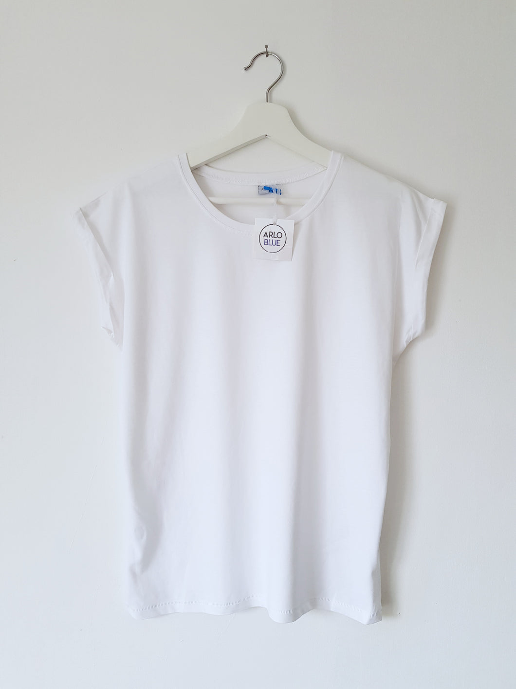Extended Shoulder Tee - White
