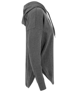 Longer Line Hoodie - Charcoal