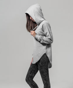 Longer Line Hoodie - Grey