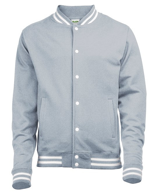 Varsity Jacket - Grey and White - Unisex