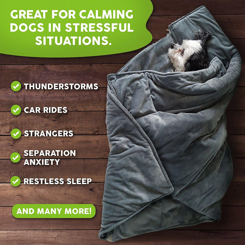 Weighted Dog Stress And Anxiety Blanket