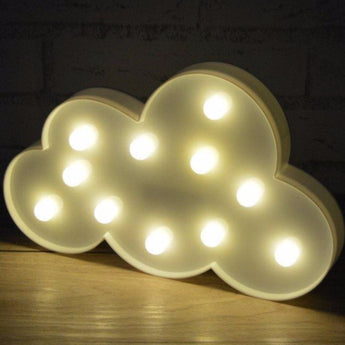 11 Led 3D Marquee White Cloud Night Lamp - - Accessories
