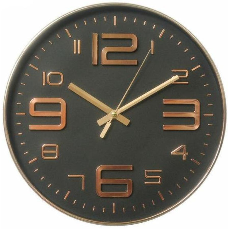 12 Inch Black Rose Gold Quartz Wall Clock (Chose From 6 Colors) - 1 -