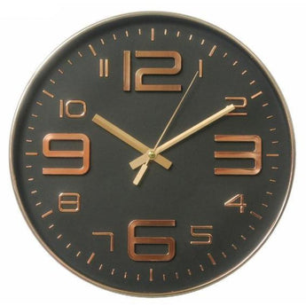 12 Inch Black Rose Gold Quartz Wall Clock (Chose From 6 Colors) - -
