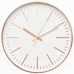 12 Inch Rose Gold Or Silver Quartz Wall Clock - 1 - Accents
