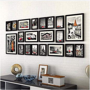 20 Piece Set - Black Picture Frames - - Wall Accents