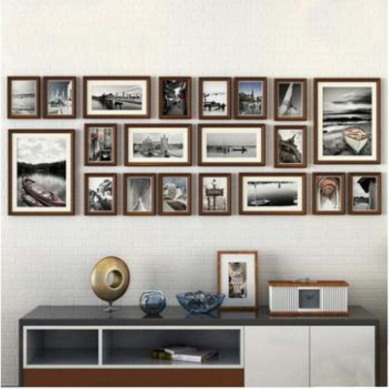 20 Piece Set - Brown Picture Frames - - Wall Accents
