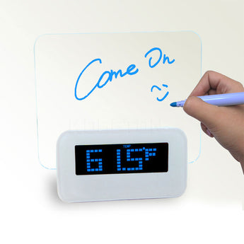 Fluorescent Message Board LED Digital Alarm Clock