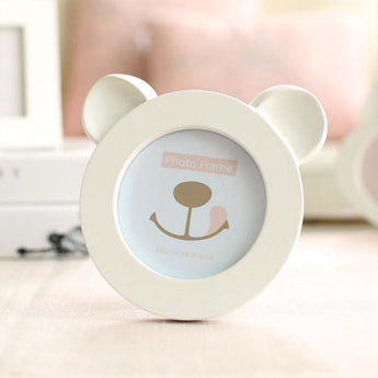 Bear In White - Picture Frame - Resin On Wood - - Wall Accents
