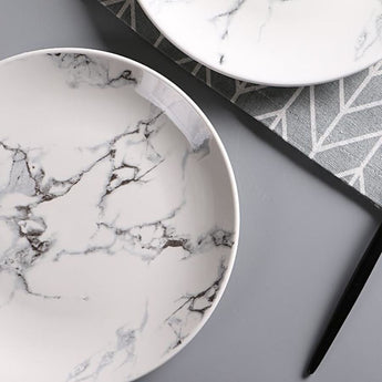 Beautiful 8Inch Marble / Ceramic Serving Plate - - Kitchen Accessories
