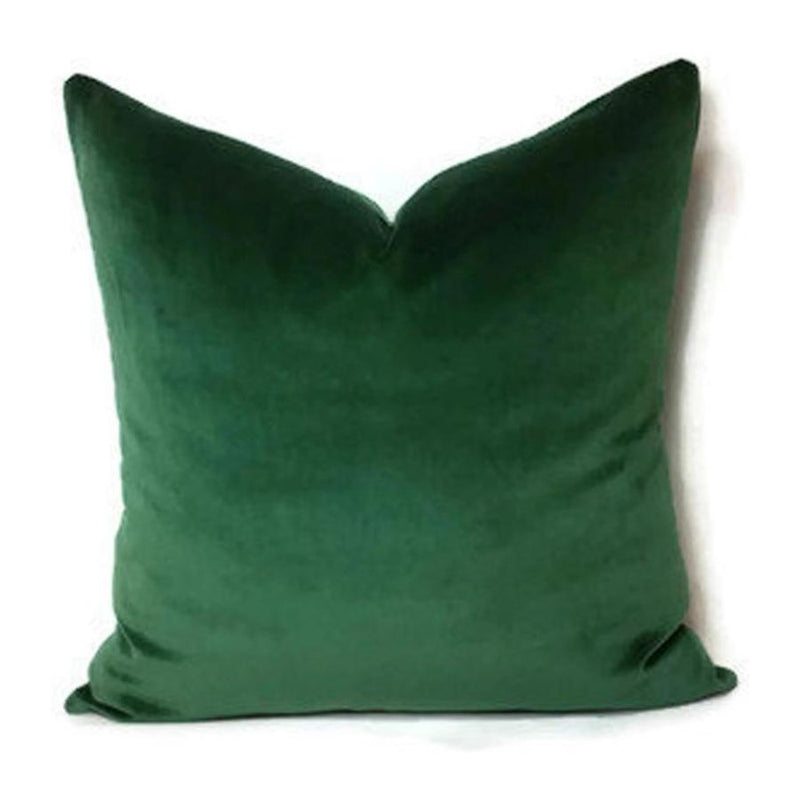 Emerald Green Velvet Cushion Cover - - Accessories