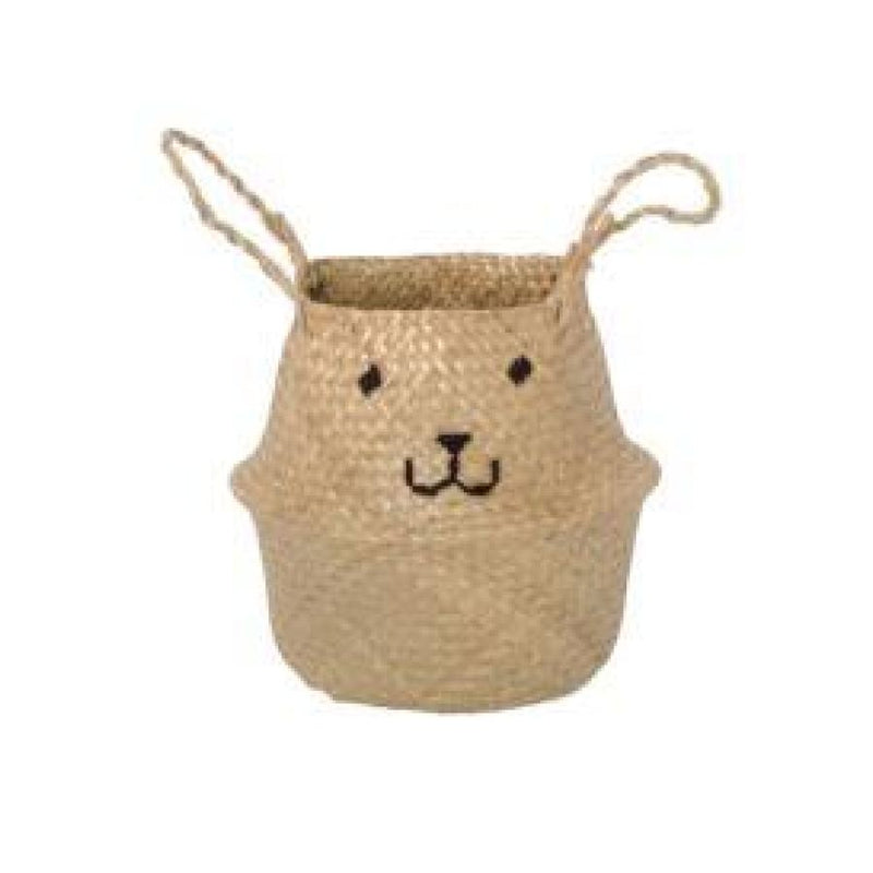 Emroidered Belly Basket - Animal Face - Wild Design Lab - - Accessories