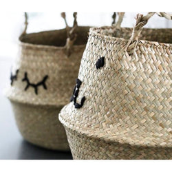 Emroidered Belly Basket - Sleepy Eyes - Wild Design Lab - - Accessories