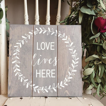 Love Lives Here, New Home Gift, Housewarming Gift,