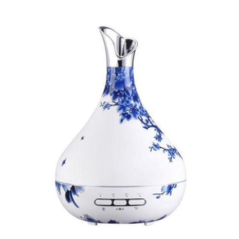 Induction Aroma Oil Diffuser / 300Ml / Porcelain Or Wood Grain - Blueandwhiteporce / Us - Accessories